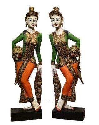 INPHIC-東南亞 家居飾品 泰國風格 泰式木雕 擺飾 工藝品 侍女個 新款