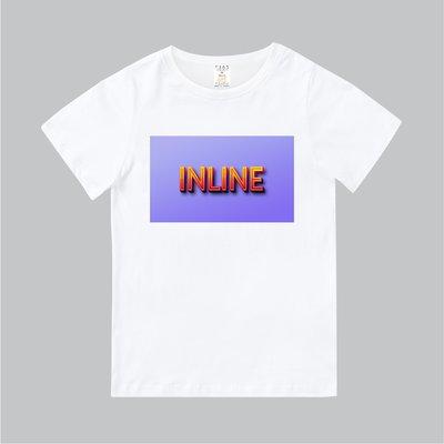 T365 MIT 親子裝 T恤 童裝 情侶裝 T-shirt 標語 話題 口號 美式風格 slogan INLINE