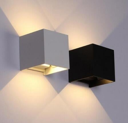 LED戶外方形防水壁燈 10W IP65 鋁材 發光角度可調花園壁燈 4635