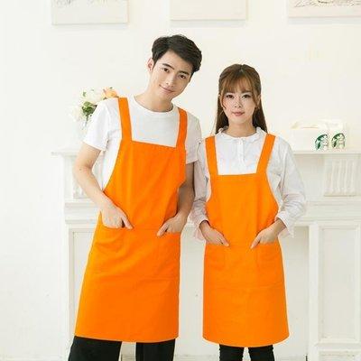 店長嚴選韓版時尚圍裙廚房服務員廣告圍裙工作服女男防水圍裙