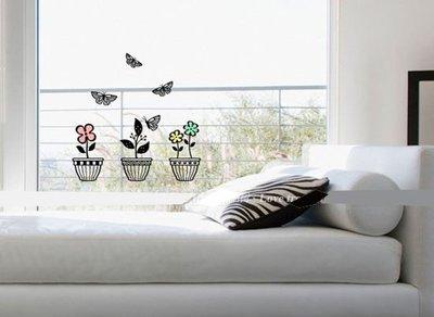 小妮子的家@快樂盆栽壁貼/牆貼/玻璃貼/磁磚貼/家具貼