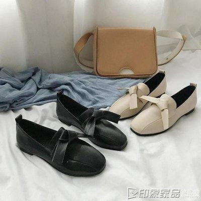 BERCH 單鞋女春季新款韓版百搭平底豆豆鞋復古溫柔風仙女INS小皮鞋BE658