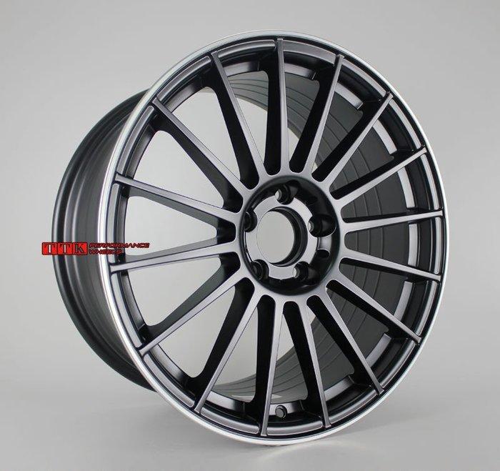 【小茵輪胎舘】類AMG 輕量化旋壓製品 MF08 18吋 5孔112 賓士全車系適用 黑銀邊 (配胎套餐大折扣)