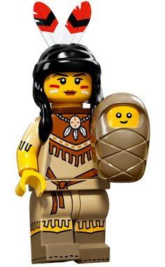 現貨【LEGO 樂高】積木/ Minifigures人偶系列: 15 代人偶包抽抽樂 71011   印地安女孩+小寶寶