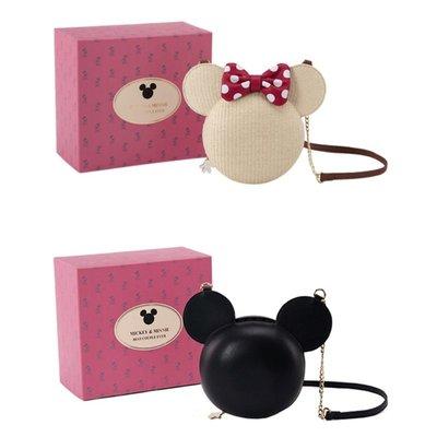 正版 米奇立體鍊條包 米妮編織鍊條包 《精美盒裝》側背包 Disney Grace gift 米奇 米妮側背包包包斜背包