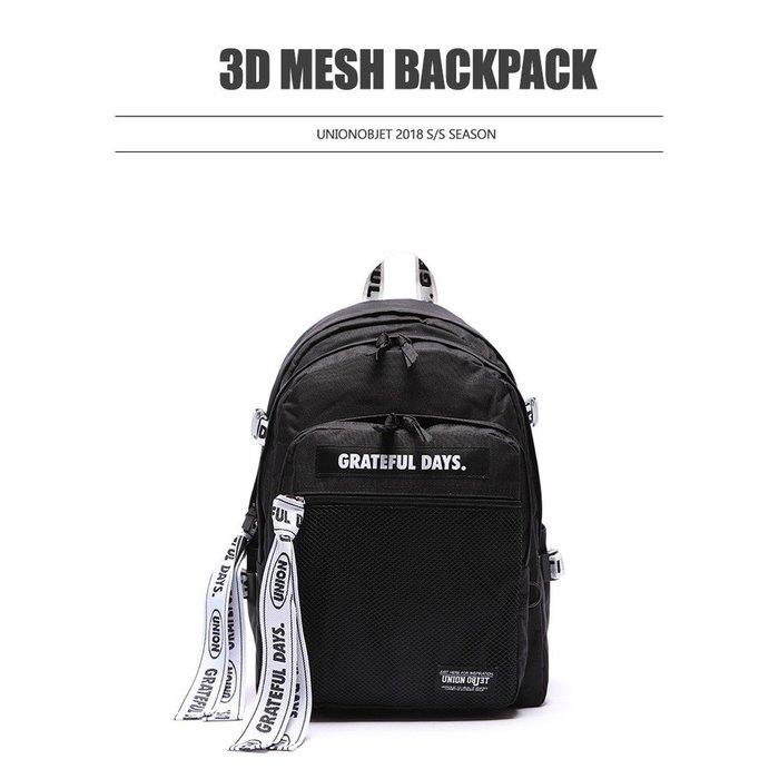 【韓國姐妹淘】(UNIONOBJET) 3D MESH BACKPACK M03 後背包 雙肩後背包