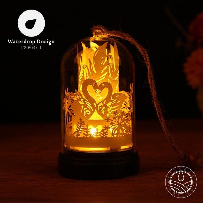 解憂zakka~ 掌上光影紙雕燈天鵝湖剪紙3diy手工材料包創意禮物抖音同款小夜燈#禮物#紙雕燈