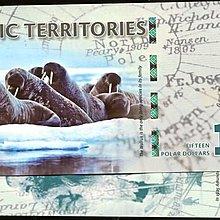 Arctic Teritorries(北極塑膠鈔),NL,15-DOLLAR,2011,品相全新UNC