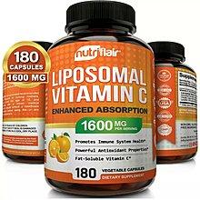 【預購】NutriFlair天然脂質體有機維生素C  180顆植物膠囊--NON GMO/ GMP認證