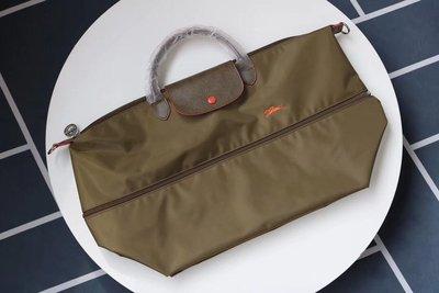 LONGCHAMP 瓏驤 中性Le Pliage系列織物大號短柄可折疊手提袋🔥七色現貨