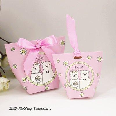 ♥晶鑽婚禮百貨♥ 新人熊喜糖盒 結婚糖果盒 喜糖盒 包裝盒 新郎新娘 Candy Bar 婚禮佈置