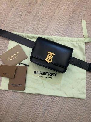二手真品 Burberry TB 金釦 腰包 手拿包 晚宴包