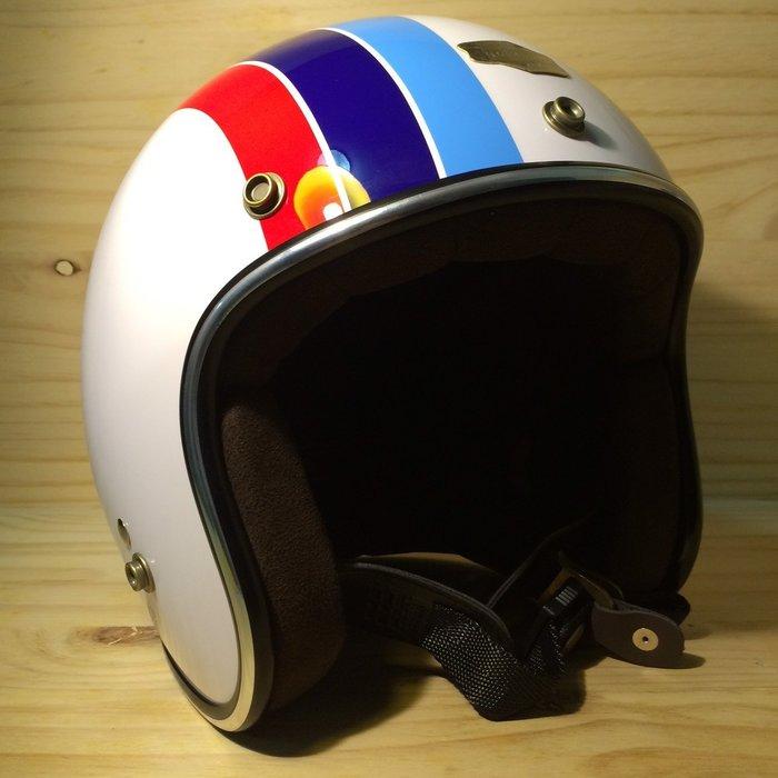 (I LOVE樂多)Air runner彩繪安全帽(白)BMW配色 喜歡BELL BUCO SHM可參考R90T M3