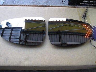 (柚子車舖)福斯 GOLF7 GOLF6 GOLF5  鉻鏡LED方向燈加電熱除霧後視鏡片(專用卡榫式)