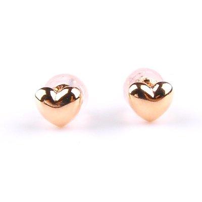 【JHT 金宏總珠寶/GIA鑽石專賣】愛心型耳環/材質:750(JB47-B05)
