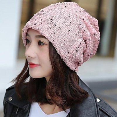 帽子韓版夏季包頭帽時尚頭巾帽雙層月子帽鏤空套頭帽潮堆堆帽 QQ518