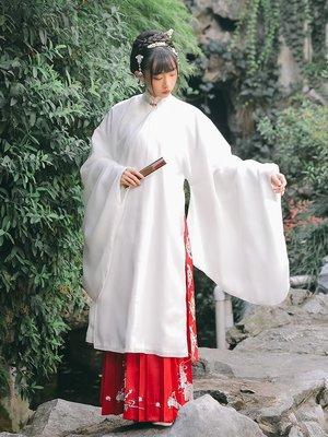 漢服 中國風 民族風 連身裙 長裙[露華濃]立領斜襟長襖一片式褶裙漢服