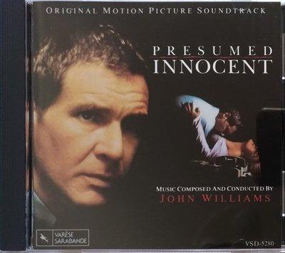 《絕版專賣》無罪的罪人 / Presumed Innocent 電影原聲帶 (美版 JVC.無IFPI)