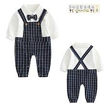 ~多妙屋~嬰兒連體衣服寶寶新生兒哈衣男0歲3個月紳士哈衣滿月夏春秋季秋裝