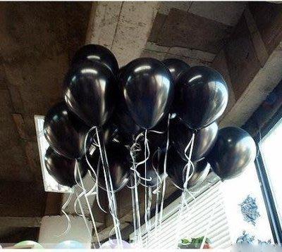 發光派對屋@10吋加厚款黑色氣球(可做拱門,可空飄)可吹到11吋