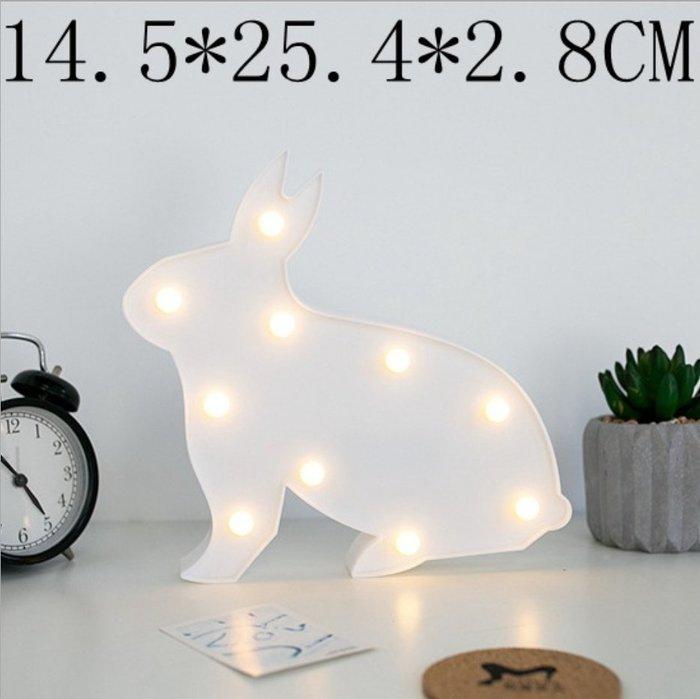 都會LOFT兔子企鵝貝殼梅花鹿月亮長頸鹿皇冠天使造型裝飾電子LED燈擺飾 動植物小招牌led夜燈標誌標示指示燈牌燈飾