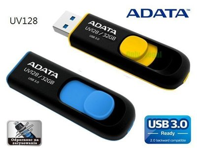 《SUNLINK》威剛 隨身碟 128G ADATA UV128  128GB USB 3.0 終身保固