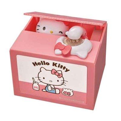 【甜甜日貨】日本正版→三麗鷗 Hello Kitty凱蒂貓45週年粉紅小偷存錢筒 撲滿 存錢 貓咪玩具