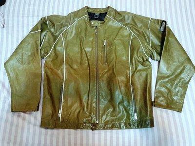 { Ruminant 慕名古物 } Adidas oversize愛迪達高質感綠色皮衣/夾克