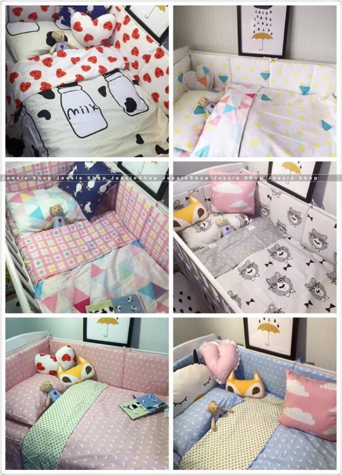日雜zakka 北歐ikea風格 全棉寶寶床笠床圍嬰兒床