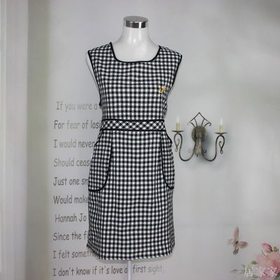 居家家 純棉時尚韓版圍裙圍腰韓版可愛成人廚房防污廚房做飯圍裙簡約