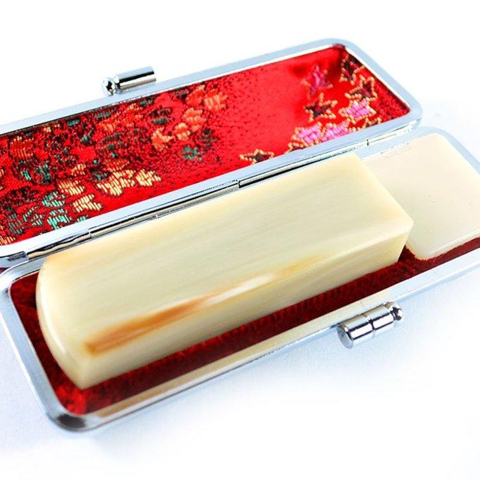 【印鑑達人】頂級嚴選白赤牛角(商品編號:2014-12-06-004)