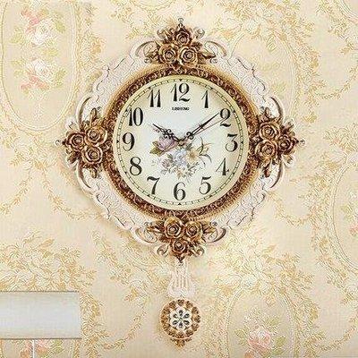 哆啦本鋪 掛鐘 搖擺鐘錶 創意田園客廳現代簡約裝飾家用靜音石英時鐘 店長推薦D655