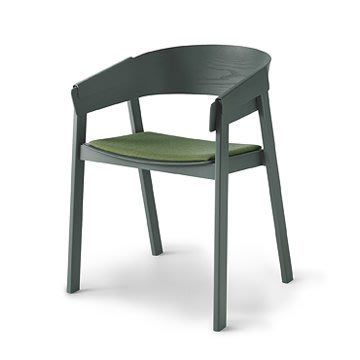 Luxury Life【預購】丹麥 Muuto Cover Chair 擁抱 木質 扶手椅 羊毛紡織坐墊款