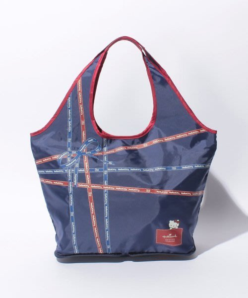 *Miki日本小舖*日本㊣版Hallmark HELLOKITTY經典蝴蝶結款可收納旅行袋/購物袋 /拉桿包 ~藍色~