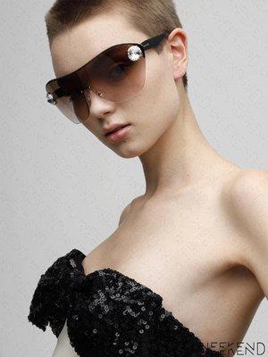 【WEEKEND】 MIU MIU Enchant 水晶 大尺寸 眼鏡 墨鏡 19秋冬