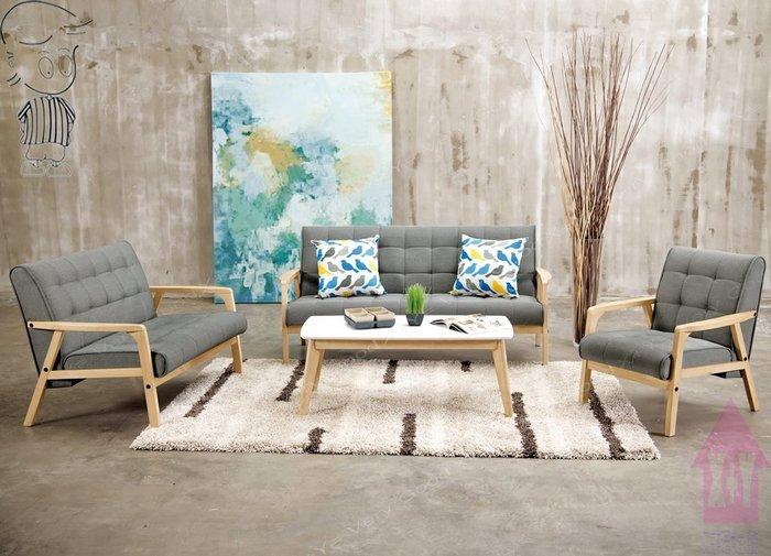 【X+Y時尚精品傢俱】現代沙發組椅系列-妮克絲 休閒沙發(1+2+3不含茶几).橡膠木實木+棉麻布坐墊.摩登家具