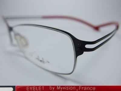 【信義計劃】全新真品 Eyelet 眼鏡 EL29 鏤空金屬框 一體成型 超輕超越 Infinity Lindberg