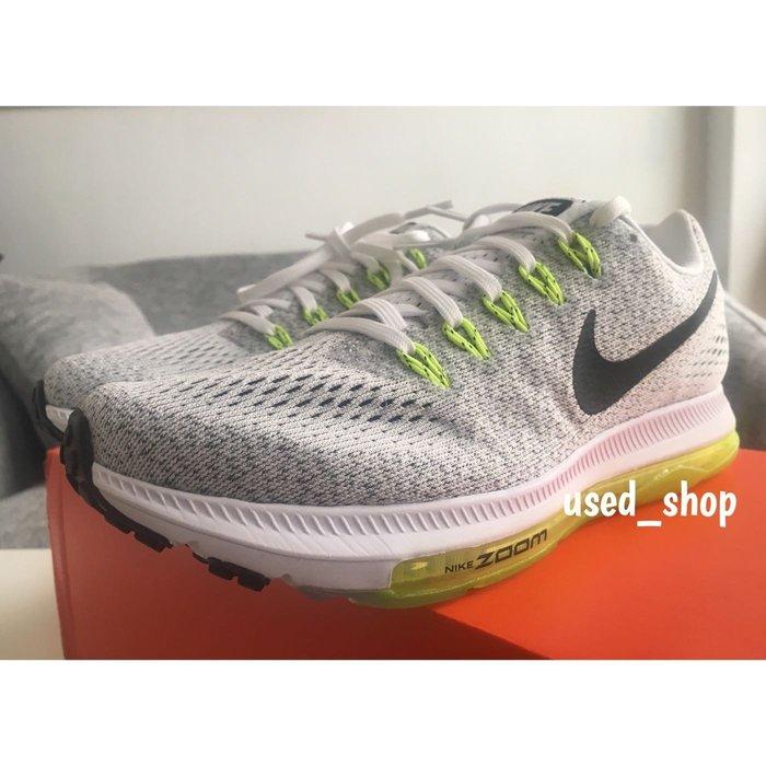全新正品 Nike Zoom All Out Low 女鞋 反光 灰螢光綠 網布 全氣墊 慢跑鞋 路跑 馬拉松 878670-107