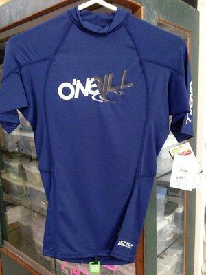台灣潛水--- 出清 O'neil 短袖防曬衣XS 藍 男