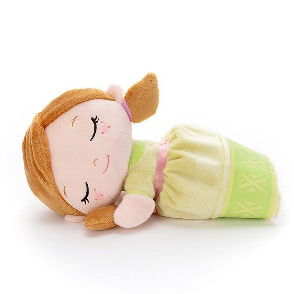 【安娜 睡覺音樂娃娃】冰雪奇緣2 安娜 音樂娃娃 小抱枕 螢光 日本正版 該該貝比日本精品 ☆