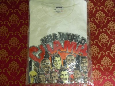芝加哥公牛隊 CHICAGO BULLS NBA WORLD CHAMPION 91 總冠軍 T  SIZE:M