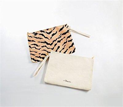 本月特價款! 優惠!【現貨不用等】日文雜誌 附錄 豹紋 拉鍊手拿包 收納包