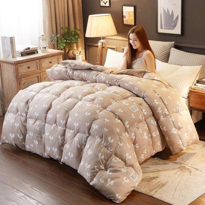 冬天被子棉被子羽絲絨冬被被芯太空被心10斤冬季加厚保暖1.8米全棉8絲綿被