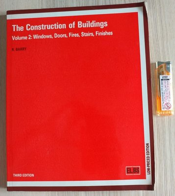 The Construction of Building Vol.2 Windows Doors Fries Stairs Finishes R. Barry