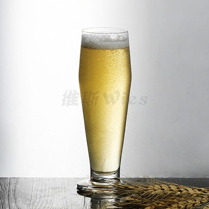 聚吉小屋 #無鉛玻璃大號啤酒杯家用牛奶飲料果汁果凍杯子個性酒吧創意扎啤杯