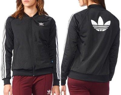 Adidas 現貨 立領 經典 簡約 外套 胸繡 logo 後印花 三葉草