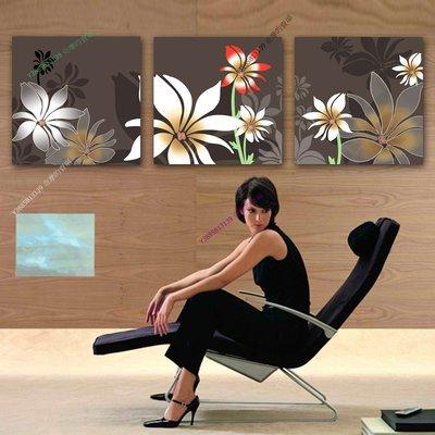 【70*70cm】【厚2.5cm】經典花卉-無框畫裝飾畫版畫客廳簡約家居餐廳臥室牆壁【280101_334】(1套價格)