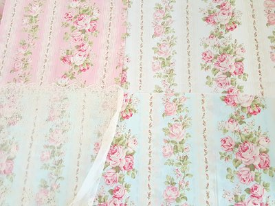法式玫瑰Shabby Chic Rose棉布(三種顏色可選)