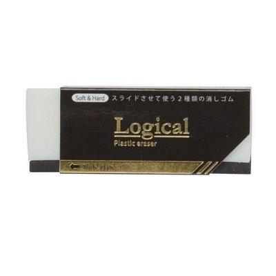 淳祿工作室-NAKABAYASHI Logical soft & hard 兩用滑動式橡皮擦 ERA-M001