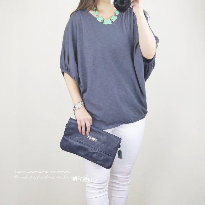 正韓 韓國空運 魟魚包袖 棉麻T(鐵灰、粉色)~桔子瑪琪朵。惠衣